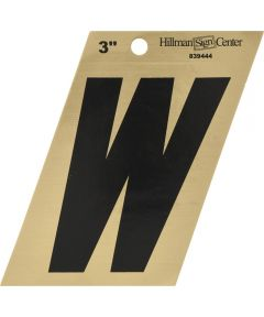 3 in. Black and Gold Adhesive Letter V
