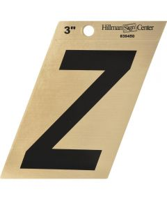 3 in. Black and Gold Adhesive Letter Z