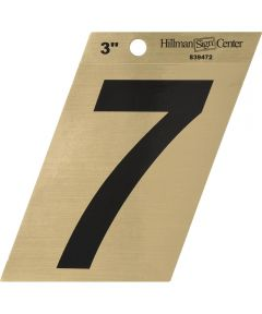 3 in. Black and Gold Adhesive Number 7, Angle Cut Mylar