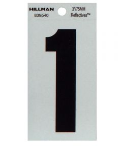 3 in. Thin Reflective Adhesive Number 1