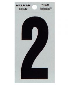3 in. Thin Reflective Adhesive Number 2