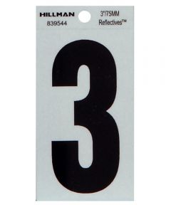 3 in. Thin Reflective Adhesive Number 3