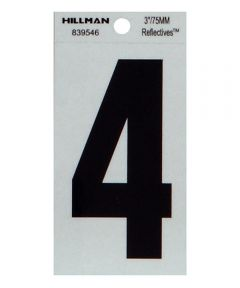3 in. Thin Reflective Adhesive Number 4