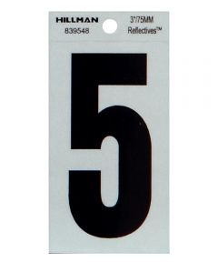 3 in. Thin Reflective Adhesive Number 5