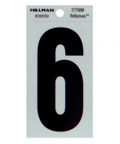 3 in. Thin Reflective Adhesive Number 6