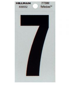 3 in. Thin Reflective Adhesive Number 7