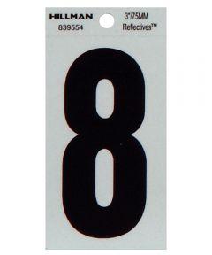 3 in. Thin Reflective Adhesive Number 8