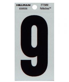 3 in. Thin Reflective Adhesive Number 9