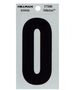 3 in. Thin Reflective Adhesive Number 0