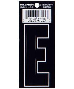 3 in. Die-Cut Black Adhesive Letter E