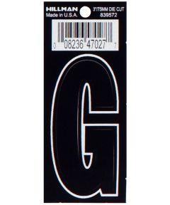 3 in. Die-Cut Black Adhesive Letter G