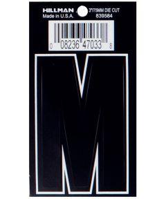 3 in. Die-Cut Black Adhesive Letter M