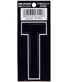 3 in. Die-Cut Black Adhesive Letter T