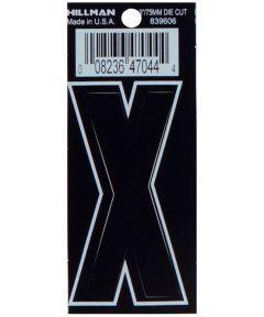 3 in. Die-Cut Black Adhesive Letter X