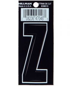 3 in. Die-Cut Black Adhesive Letter Z