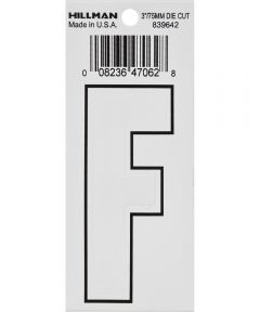 3 in. White Adhesive Letter F