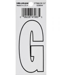 3 in. White Adhesive Letter G