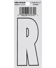 3 in. White Adhesive Letter R