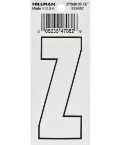 3 in. White Adhesive Letter Z