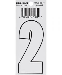 3 in. White Adhesive Number 2