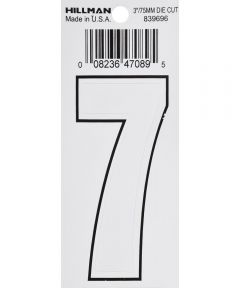 3 in. White Adhesive Number 7