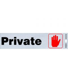 Adhesive Private Sign 2 in. X 8 in.