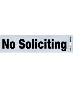 Adhesive No Soliciting Sign 2 in. X 8 in.