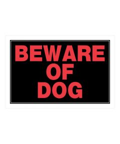 Black Beware of Dog Sign 8 in. x 12 in.