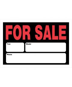Automobile For Sale Sign 8 in. x 12 in.