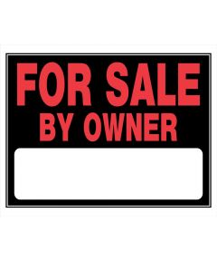 For Sale By Owner Red and Black Sign 15 in. x 22 in.