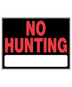 No Hunting Sign 15 x 19