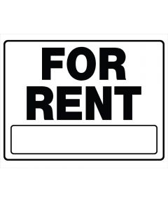 For Rent Sign, 20 x 24, Plastic