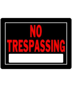 No Trespassing Sign, 10 x 14, Aluminum