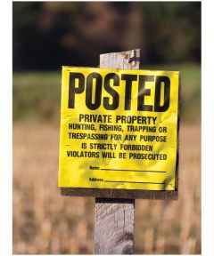 Private Property Sign 11 x 11