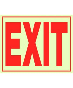 Glow-in-the-Dark Exit Sign 8 in. X 11 in.