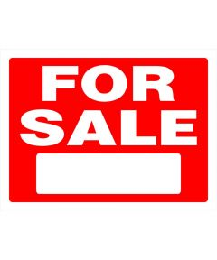 For Sale Red and White Sign 18 in. x 24 in.