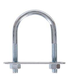 Zinc U-bolt Round Saddle 1/4 in. x 3-1/2 in. x 1-1/8 in.