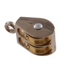 Double Sheave Fixed Sheave Pulley 1-1/2 in.