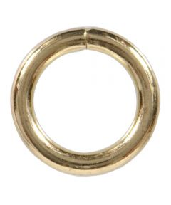 Welded Rings Brass 0.177 in. x 1 in.