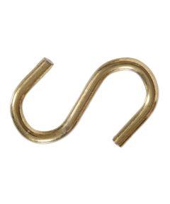Brass S-hooks 0.192 in. x 2-3/16 in.