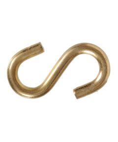 Brass S-hooks 0.250 in. x 2-1/4 in.