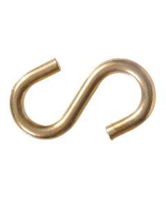 Brass S-hooks 0.307 in. x 3 in.