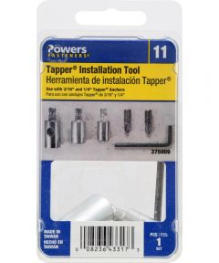 "Tapper Installation Kit for 3/16"" & 1/4"" Screws, 1 Pieces"