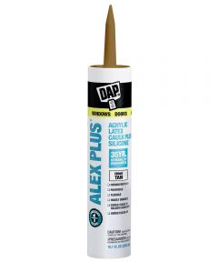 Alex Plus Cedar Tan Acrylic Latex Caulk Plus Silicone, 10.1 oz.