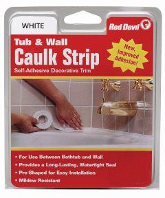 1-5/8 in. x 11 ft. Wide White Tub & Wall Caulk Strip