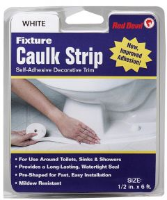 1/2 in. x 6 ft. White Fixture Caulk Strip