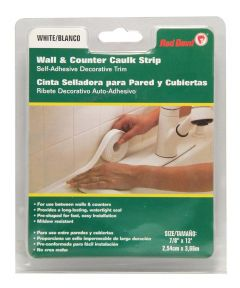 7/8 in. x 12 ft. White Wall & Counter Caulk Strip