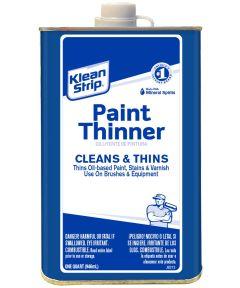 Klean-Strip Paint Thinner, 1 qt Metal Can, Water White, Liquid
