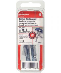 Pan Head Combination Drive Hollow Wall Anchor 3/16 in. Long, 2 Pieces