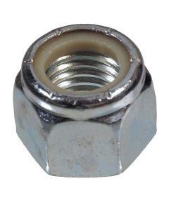 Zinc-Plated Nylon Insert Stop Nut USS Coarse #10-24, 5 Pieces